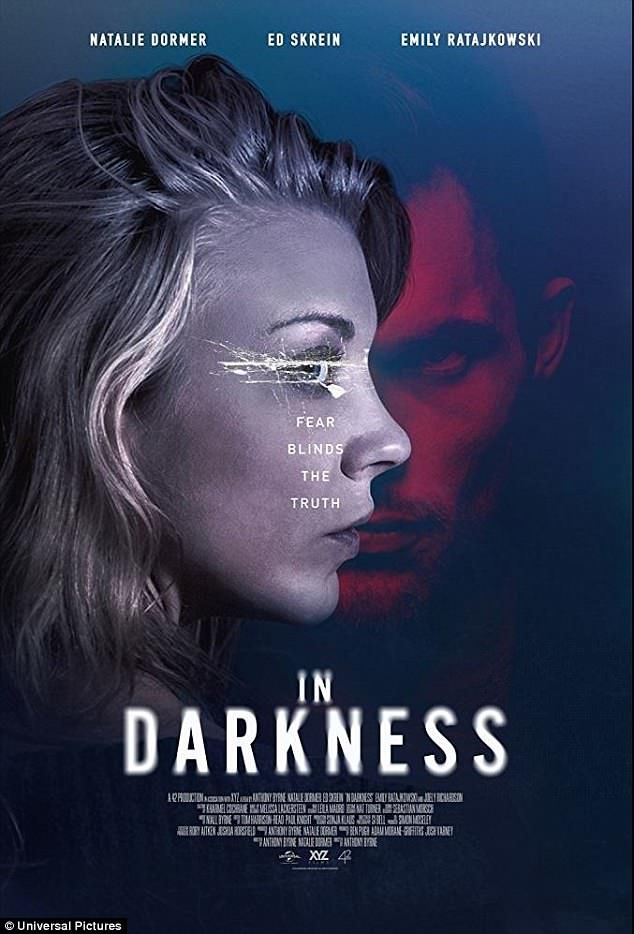 Natalie Dormer flashes black lace lingerie at In Darkness premiere